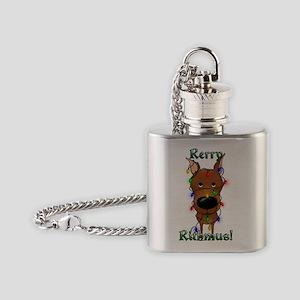 MinPinLightsInside2x Flask Necklace