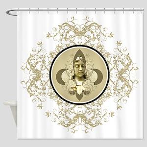 fleurAngelRScrLgTR Shower Curtain