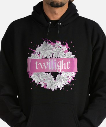 twilight pink wreath 2 copy Hoodie (dark)