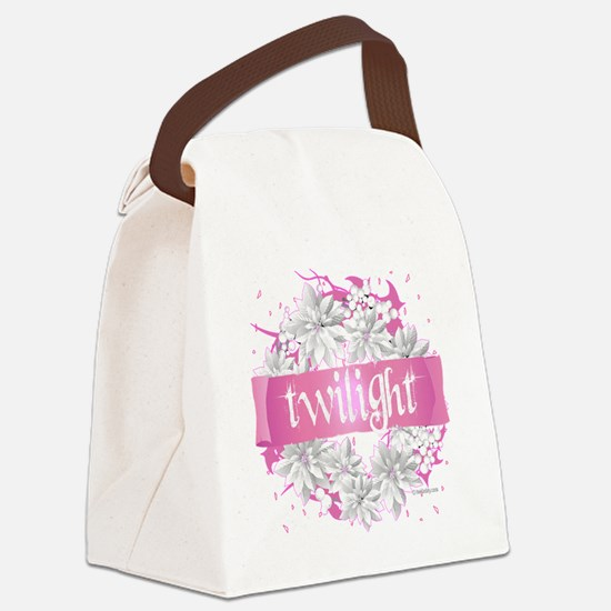 twilight pink wreath 2 copy Canvas Lunch Bag