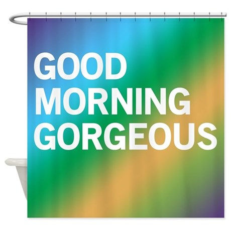 Morning Gorgeous (blues Greens) Shower Curtain