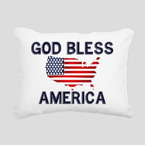 God-Bless-America-2-(whi Rectangular Canvas Pillow