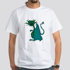 Grumpy Dragon White T-Shirt