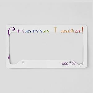 gnome-love License Plate Holder