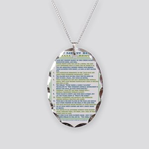 10055 Necklace Oval Charm