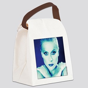 sam fox t-shirt design 1 (blue  g Canvas Lunch Bag