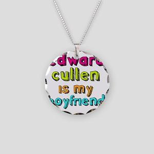 Edward Boyfriend Necklace Circle Charm