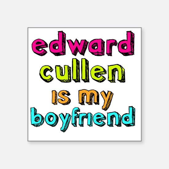 "Edward Boyfriend Square Sticker 3"" x 3"""