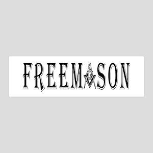 freemason_back text_Wsquarecompas 36x11 Wall Decal