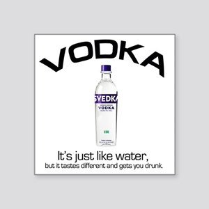 "vodka shirt copy Square Sticker 3"" x 3"""