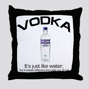 vodka shirt copy Throw Pillow
