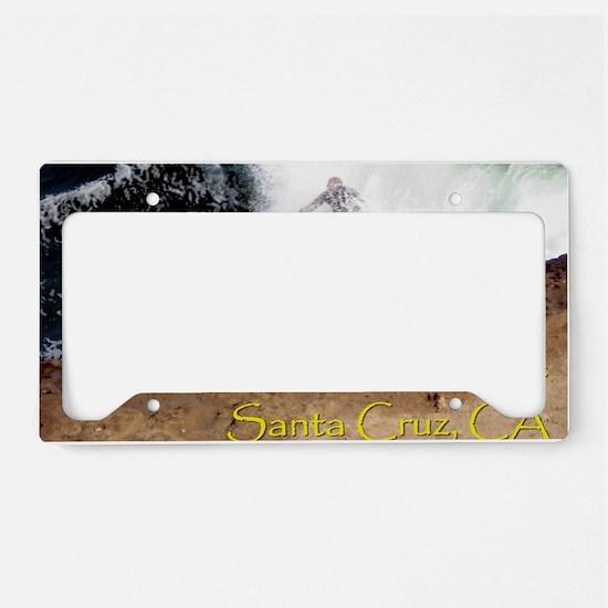 Steamer Lane Enhanced License Plate Holder