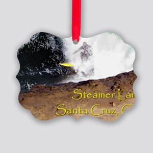 Steamer Lane Enhanced Picture Ornament