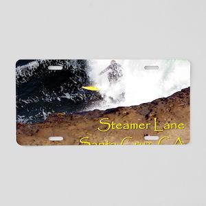 Steamer Lane Enhanced Aluminum License Plate