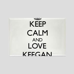 Keep Calm and Love Keegan Magnets