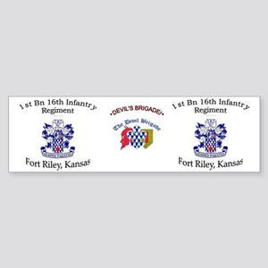1st Bn 16th Inf mug2 Sticker (Bumper)