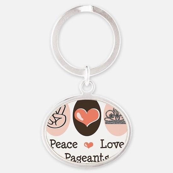 PageantsPL Oval Keychain