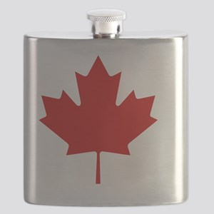 cafepressMapleLeaf Flask