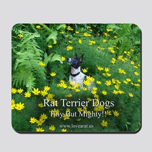 rat_terrier_flowers Mousepad