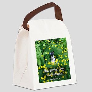 rat_terrier_flowers Canvas Lunch Bag