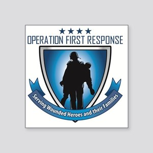 "OperationFirsD11aR01aP01ZL  Square Sticker 3"" x 3"""