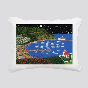 Across the Sea Rectangular Canvas Pillow