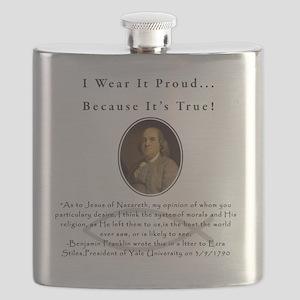 Ben Franklin Wear It Proud Adult T-Shirt Flask