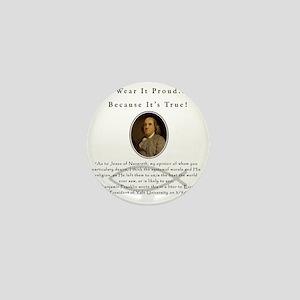 Ben Franklin Wear It Proud Adult T-Shi Mini Button