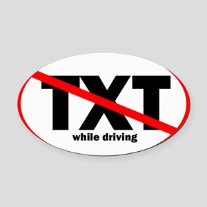 notext Oval Car Magnet