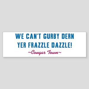 cougar-town-frazzle-dazzle Sticker (Bumper)