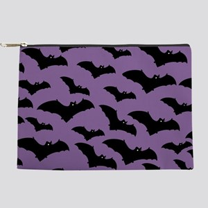 Spooky Halloween Bat Pattern Makeup Pouch