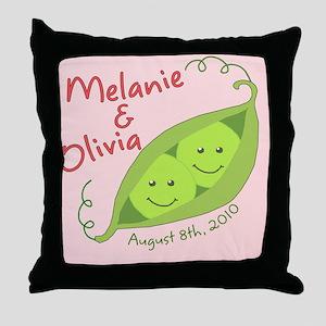 MelanieOlivia Throw Pillow