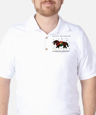 Christmas Clydesdale Golf Shirt