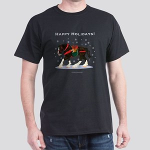 Christmas Clydesdale Dark T-Shirt