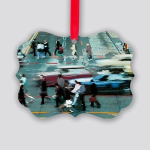 crossing marquette Picture Ornament
