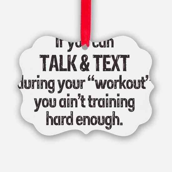 texting workout Ornament