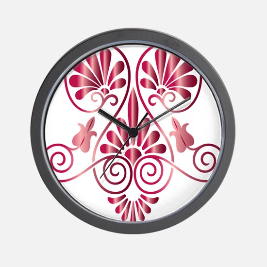Namaste Henna Tattoo in Ruby Wall Clock