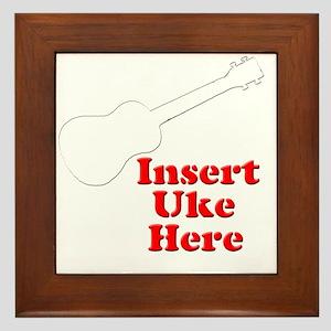 Insert Uke Here Framed Tile