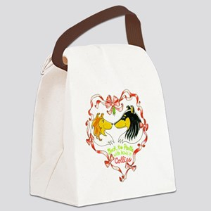 deck-the-halls Canvas Lunch Bag