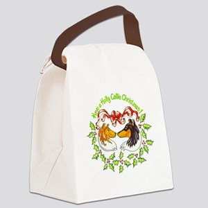 holly-collie Canvas Lunch Bag