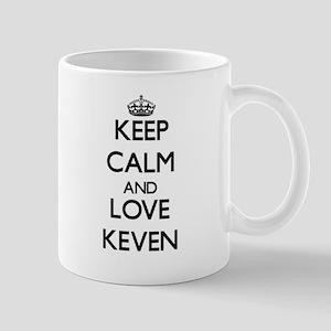 Keep Calm and Love Keven Mugs