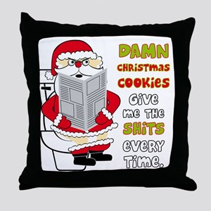 santapoop2 Throw Pillow