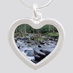 SMOKIES1 Silver Heart Necklace