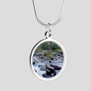 SMOKIES1 Silver Round Necklace