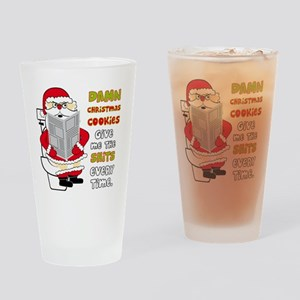 santapoop2 Drinking Glass
