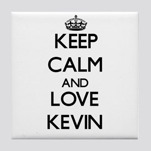 Keep Calm and Love Kevin Tile Coaster
