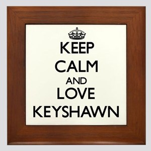 Keep Calm and Love Keyshawn Framed Tile
