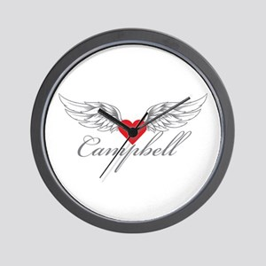 Angel Wings Campbell Wall Clock