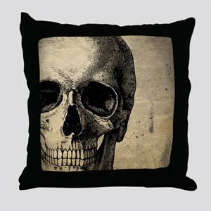 OldSkull_ipad Throw Pillow