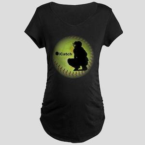 iCatch Fastpitch Softball Maternity Dark T-Shirt